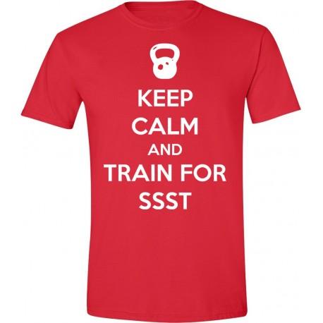 "T-Shirt Męski ""Keep Calm and Train for SSST"""