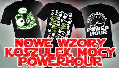 Nowe wzory koszulek mocy PowerHour